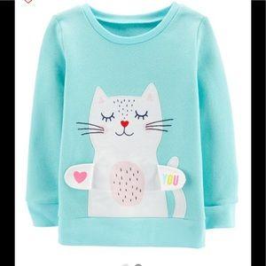 Carter's Shirts & Tops - Carter's interactive kitty sweatshirt